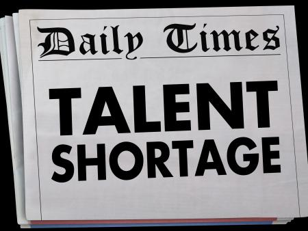 news headline about talent shortage